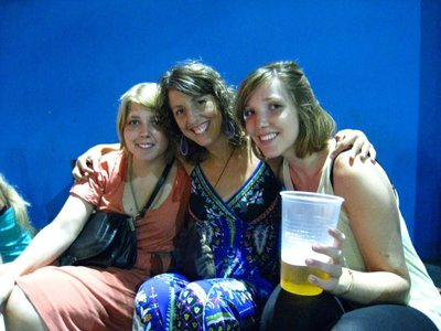 Katharina, Lena and me at La Bomba del Tiempo (German girls I met in Ilha Grande and also hung out with in BA)