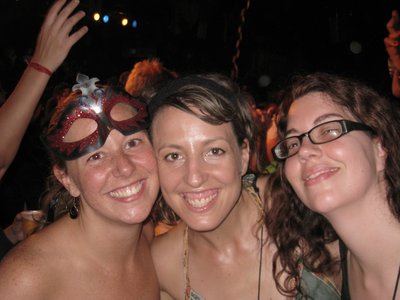 Luciana, Natia and I at one of the pre-carnaval parties.