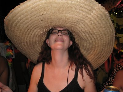 Natia with a sombrero, from the ´Natia in Other People´s Funny Hats´ Series