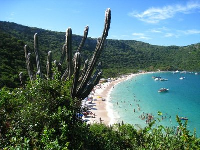 One of the beaches in Arrail do Cabo (loved the cacti)