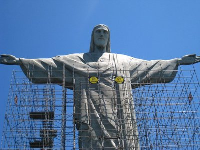 Jesus Statue in Rio (shame about the scaffolding)