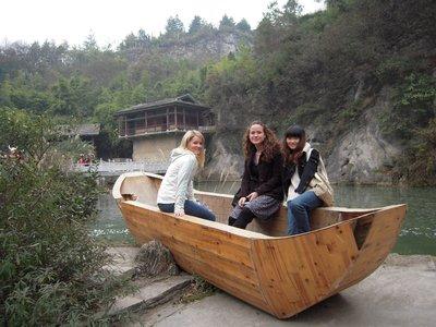 wooden boat Tianhetan