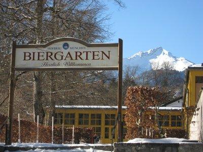 Biergarten in the mountains