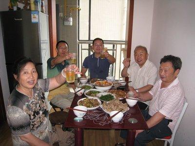 Tang Fang Xiu, Jian Zhirui, Jian Jixun - 1st, 3rd, and 4th from left.