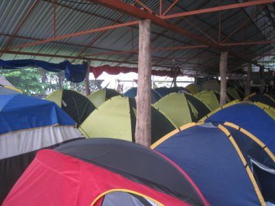 Tents at Rocking J's, Puerto Viejo
