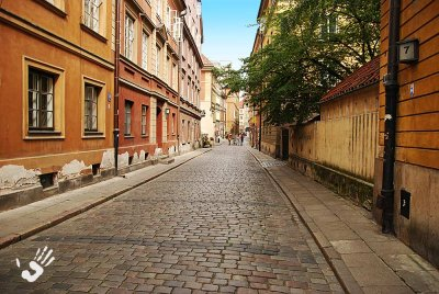 Warsaw old brick street