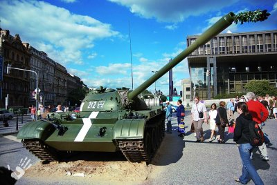 Russian tank in Prague