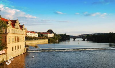 Prage Vltava river