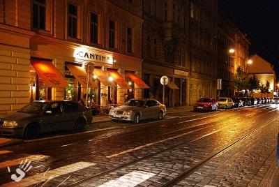 Prague brick street