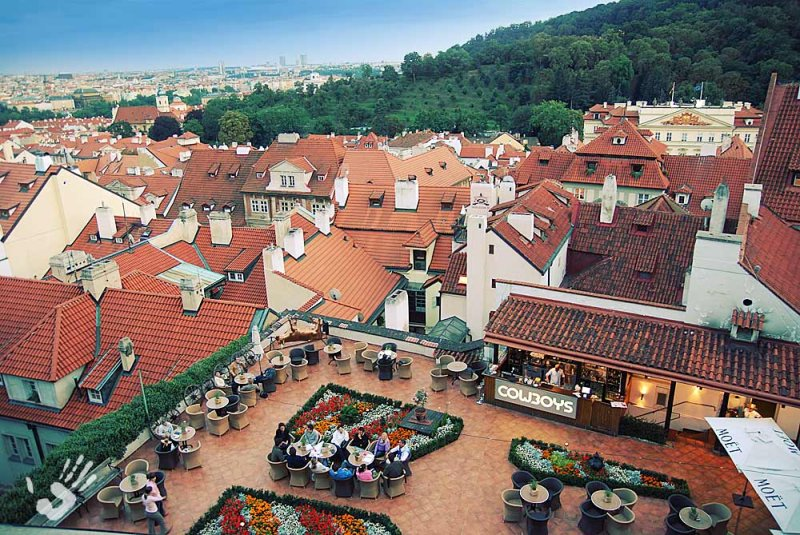 Prague roofs view from high
