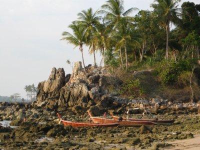 Ko lanta Beach when the tide is low