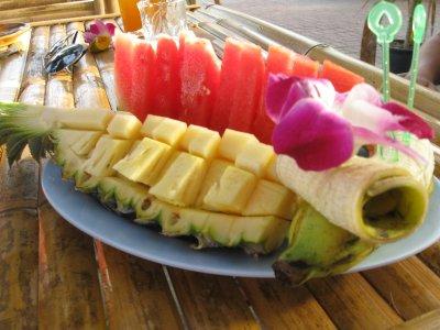 Fruit Salad at the Blue Adaman Resort