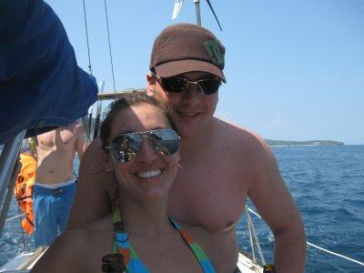 Sarah and Tyler Sailing
