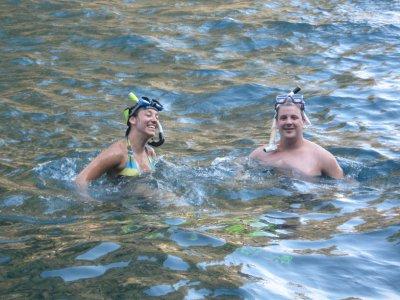 Tyler and Sarah Snorkeling