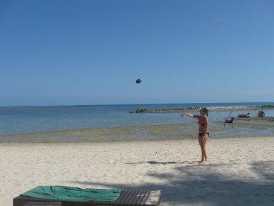 Sarah Throwing the Football