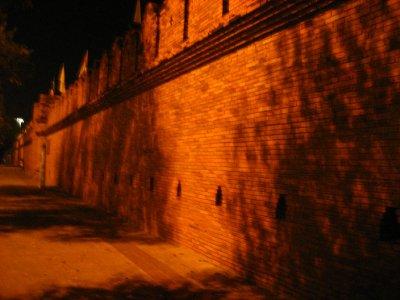 The wall at Tha Phae Gate