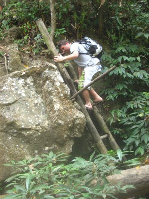Tyler Climbing