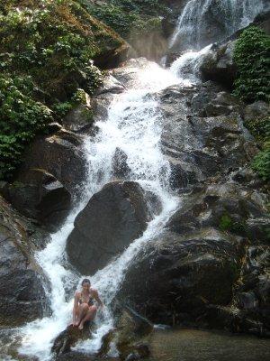 Sarah in the Waterfall
