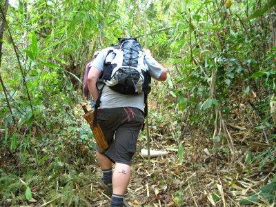 Tyler trekking