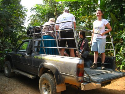 Truck that we rode in to and from the Ahka Hill House