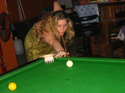 Clara Playing Pool