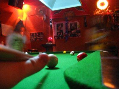 Tyler Playing Pool