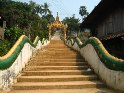 Stairs to the Houay Xai Temple