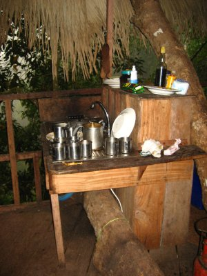 Kitchen in the first tree house