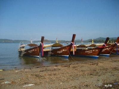 Long-tail boats at Ao Nang Pier