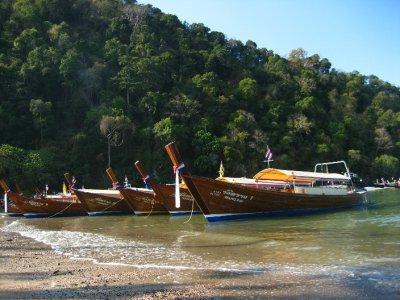 Long tail boats at Ao Nang Pier