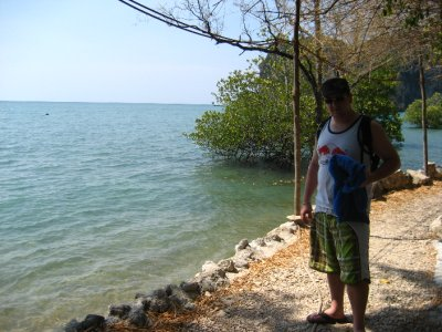 Tyler at the East side of Railay Beach