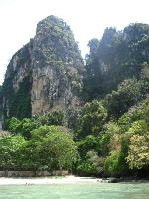 Limestone Clifs at the West side of Railay Beach
