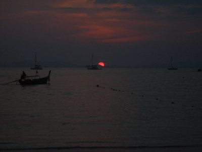West side of Railay Beach Sunset