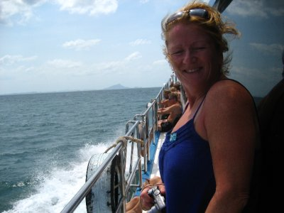 Pat on the Ferry to Koh Lanta from Railay Beach