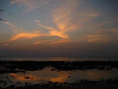 Sunset over the Adaman Sea at low tide