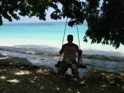 Tyler Swinging on Ko Rok Beach