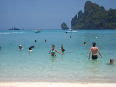 Sarah on Ko Phi Phi Beach