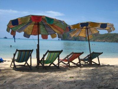 Beach Chairs on Ko Phi Phi Beach