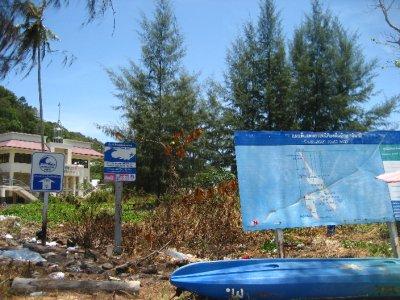 Tsunami Signs on Ko Phi Phi Beach