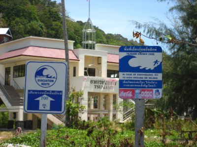 Tsunami Building on Ko Phi Phi Beach
