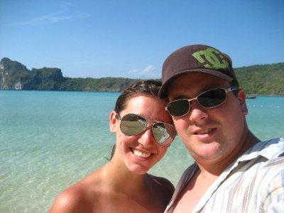 Sarah and Tyler at Ko Phi Phi Beach