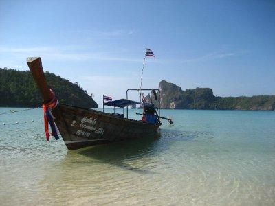 Long-tail Boat on Ko Phi Phi Beach