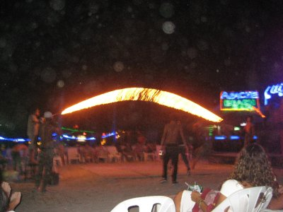 Skipping with fire on Ko Phi Phi Beach