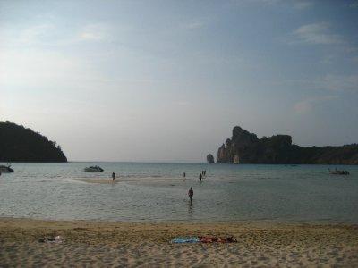 Ko Phi Phi Beach at low tide