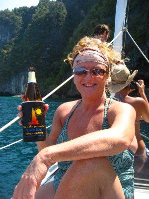 Pat enjoying sailing
