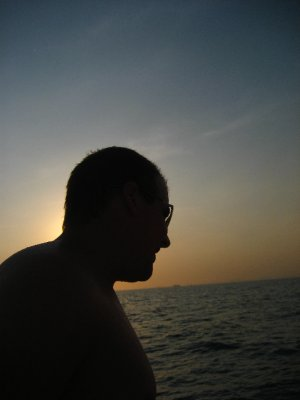 Tyler during the sunset