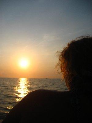 Pat during sunset