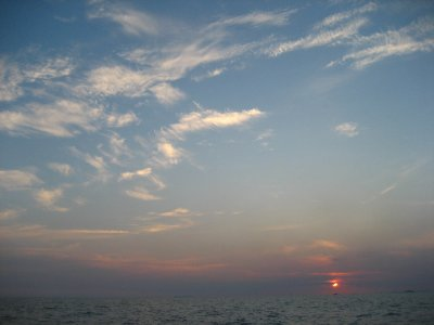 Sunset during our Sailing Trip