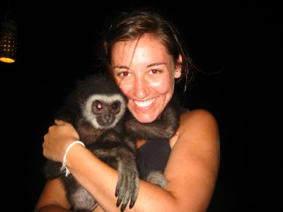 Sarah and a Monkey