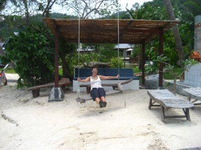 Sarah on the Swing at Cookies Resort